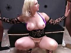Nasty Sarah Vandella Pleasures Five Black Dudes 3
