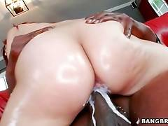 Naughty White Girl Rides Massive Black Dong 3