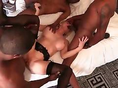 Pretty Milf Cammille Enjoys Interracial Foursome 1