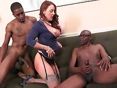 Awesome white milf Janet Mason knows how to drive black guys crazy.