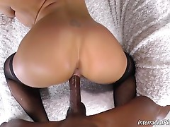 Talk about a good stuffing, her cunt`s stretched it the max as the photographer is fucking her, and then Olivia`s back on her knees for a big swallow! No surprises there...unless you`re Olivia`s hubby! He can`t even get a BJ anymore!!!