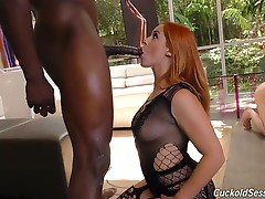 The 6`5`, muscle-bound stud Jax Slayher, who stretches out Edyn`s pussy before unloading directly into it!