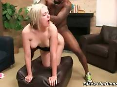 Babe gets her face creamed by one black fucker and has another still drilling her.
